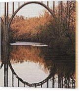 Bridge Over The River Cuyahoga Wood Print