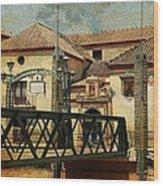Bridge Over The River Guadalmedina In Malaga I. Spain Wood Print