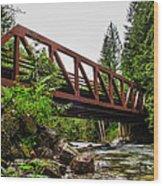 Bridge Over The Snoqualmie River - Washington Wood Print