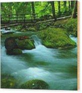 Bridge Over The Tananamawas Wood Print