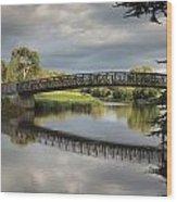 Bridge To 18th Green Wood Print