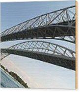 Bridge To Canada 02 Wood Print