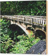 Bridge To Hana Maui Wood Print