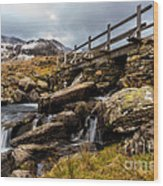 Bridge To Idwal Wood Print
