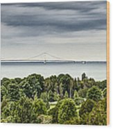 Bridge To Mackinac Wood Print