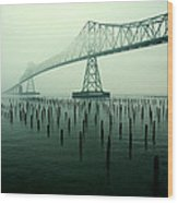 Bridge To Nowhere Wood Print