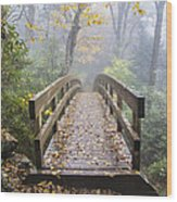 Bridge To Rough Ridge 07 Wood Print
