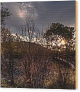 Bridge To Sunset Wood Print