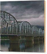 Bridge To Teslin Wood Print