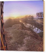 Bridge To The 21st Century - Clinton Presidential Library - Arkansas - Little Rock Wood Print