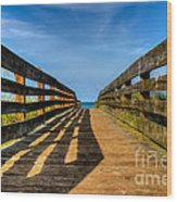 Bridge To The Beach Wood Print