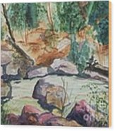 Bridge To The Hot Springs Wood Print