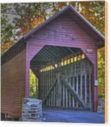 Bridge To The Past Roddy Road Covered Bridge-a1 Autumn Frederick County Maryland Wood Print