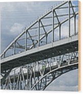 Bridge Traffic Wood Print