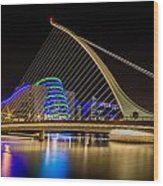 Samuel Beckett Bridge Dublin Wood Print