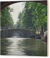 Bridges In Amsterdam Wood Print
