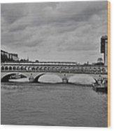 Bridges In Paris Wood Print
