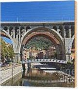 bridges in Sori Wood Print