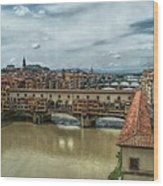 Bridges Of Florence Wood Print