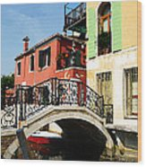 Bridges Of Venice Wood Print