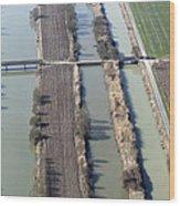 Bridges Over Channels, Vix Wood Print