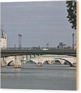 Bridges Over The Seine And Conciergerie - Paris Wood Print