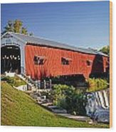 Bridgeton Covered Bridge 3 Wood Print