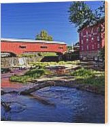 Bridgeton Covered Bridge 4 Wood Print
