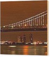 Bridging New Jersey And Pennsylvania Wood Print