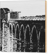 Bridging The Boyne Wood Print