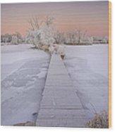 Bridging The Cold Wood Print by Michael Van Beber