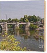 Bridgnorth Bridge Wood Print