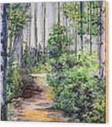 Bridle Path Wood Print
