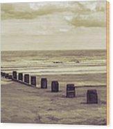 Bridlington Beach Wood Print