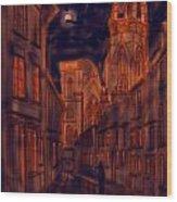 Bridlington Priory In Orange And Blue Wood Print