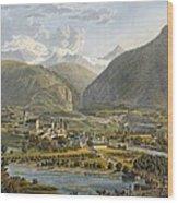 Brig On The Rhone, Bernese Alps Wood Print