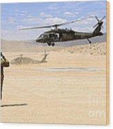 Brigade Aviation Officer Salutes Wood Print