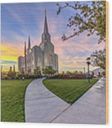 Brigham City Sunset Wood Print