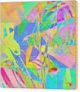 Bright Abstracted Banana Leaf - Square Wood Print