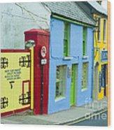 Bright Buildings In Ireland Wood Print