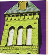 Bright Cross Tower Wood Print