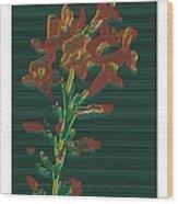 Bright Flowers - 3 Wood Print