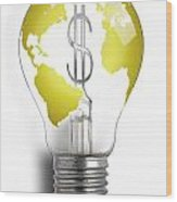 Bright Idea Wood Print