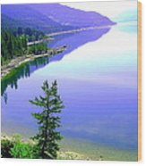 Bright Kootenay Lake Wood Print