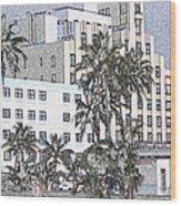 Bright Light Miami Beach Wood Print