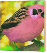 Bright Pink Finch Wood Print