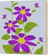 Bright Purple Wood Print