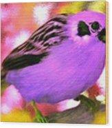 Bright Purple Finch Wood Print