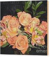 Bright Roses Wood Print
