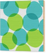 Bright Seamless Pattern With Circles Wood Print